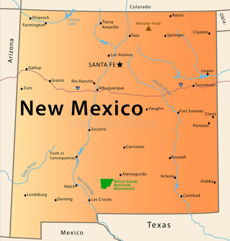 new mexico map 28633032 Locations